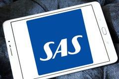 Skandinaviska flygbolag, SAS logo Arkivfoto
