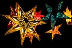 Skandinaviska julstjärnor royaltyfri foto