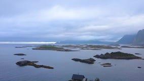 Skandynawa dom na cyplu Norweski morze zbiory