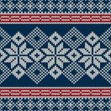 Skandynawa stylowy bezszwowy trykotowy wzór z s Fotografia Stock