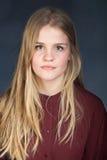 Skandynawski śliczny młoda dziewczyna portret obraz royalty free