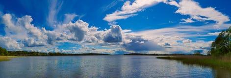 Skandynawski lata jezioro Obrazy Stock