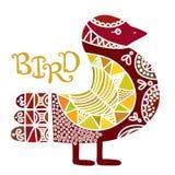 Skandynawski ozdobny boho stylu ptak Obraz Stock