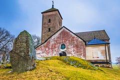 Skanela, Schweden - 1. April 2017: Skanela-Kirche, Schweden Lizenzfreies Stockbild