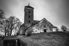 Skanela, Schweden - 1. April 2017: Skanela-Kirche, Schweden Lizenzfreies Stockfoto