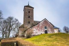Skanela, Schweden - 1. April 2017: Skanela-Kirche, Schweden Lizenzfreie Stockfotos