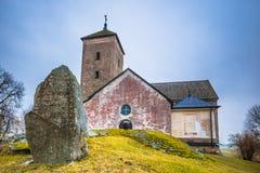 Skanela, Suède - 1er avril 2017 : Église de Skanela, Suède Photos libres de droits