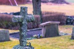 Skanela, Suède - 1er avril 2017 : Tombe dans l'église de Skanela, Suède Photo stock