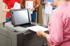 skaner optyczny głosowania zdjęcie stock