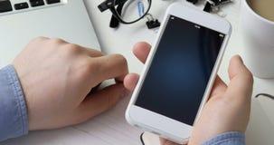 Skanerowanie odcisk palca dla weryfikować tożsamość zdjęcie wideo