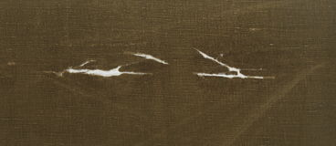 Skanirovaniya tekstury żółtego brązu szorstka drzejąca tkanka jest celtowa Obrazy Royalty Free