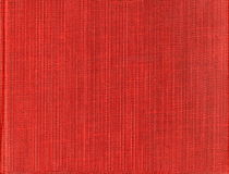 Skanirovaniya texture rough bright rich red fabric - natural canvas tarpaulin. Royalty Free Stock Image