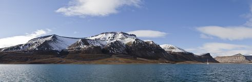 Skansbukta panorama, Svalbard, Norway Royalty Free Stock Photos