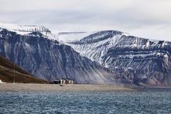 Skansbukta, Svalbard, Noorwegen Stock Foto's