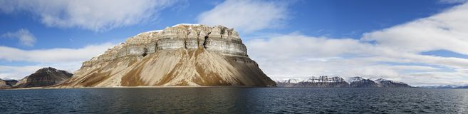 Skansen cliffs panorama, Svalbard, Norway Stock Photo