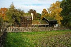Skansen - das Kyrkhult Bauernhaus Stockfotografie
