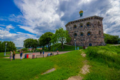 Skansen Kronan fortress in Gothenburg, Sweden. GOTHENBURG, SWEDEN - JUNE 21, 2015: Skansen Kronan, old fortress in Gothenburg city downtown Royalty Free Stock Photos