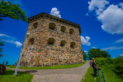 Skansen Kronan fortress in Gothenburg, Sweden. GOTHENBURG, SWEDEN - JUNE 21, 2015: Skansen Kronan, old fortress in Gothenburg city downtown Stock Photo