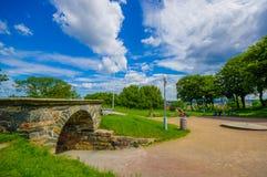 Skansen Kronan fortress hill in Gothenburg, Sweden Royalty Free Stock Images