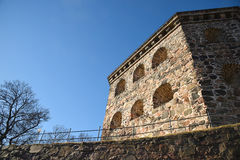 Skansen Kronan redoubt, Sweden. Gotehburg. Skansen Kronan - Swedish Crown, redoubt is a redoubt in the district of Haga of Gothenburg, Sweden. Skansen Kronan Royalty Free Stock Photography