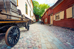 Skansen open-air museum in Stockholm, Sweden. Royalty Free Stock Images