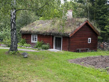 Skansen park. Typical sweden house in skansen park, Stockholm Royalty Free Stock Photography