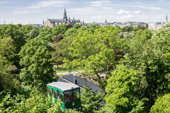 Skansen Park Stockholm Sweden. Skansen park, trees, and the historical buildings Stock Image