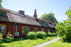 Skansen Park Stockholm Sweden. A typical swedish wood building in Skansen Park Stockholm Sweden Stock Image