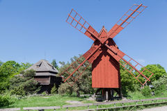 Skansen Park Windmill Stockholm Sweden Stock Images