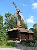 Skansen Park. Wood windmill in Skansen park in Stockholm - Sweden Stock Images