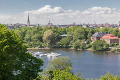 Skansen parkerar Stockholm Sverige Arkivbilder