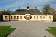 Skansen - Skogaholm manor. Skogaholm manor in Skansen, Stockholm, Sweden, as the example of the architecture at the end of 18th century Royalty Free Stock Images