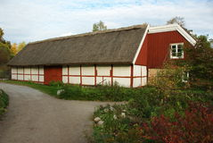 Skansen - Village hall Royalty Free Stock Images
