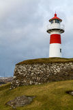 Skansin lighthouse with grassy wall Royalty Free Stock Photo