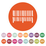 Skanuje prętowego kodu ikonę Barcode skanerowania symbol mieszkanie Obrazy Stock
