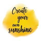 Skapa din egen solskencitationsteckenbakgrund Arkivfoto