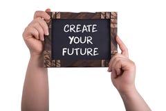 Skapa din framtid arkivbilder