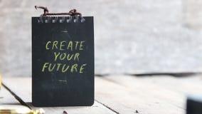 Skapa din framtid stock video