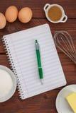 Skapa ett recept Arkivbild