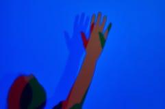 Skapa färgade skuggor i Experimentanium Royaltyfri Bild
