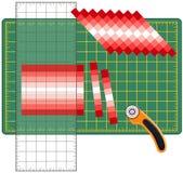 skapa hur patchworken till Arkivfoton