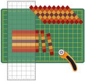 skapa hur patchworken till Royaltyfria Bilder
