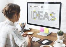 Skapa idérika idéer som tänker tankebegrepp fotografering för bildbyråer