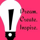 Skapa och inspirera Arkivbild