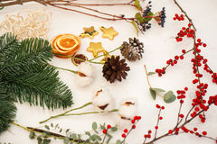 Skapa stora vintersammansättningar handgjort Royaltyfri Fotografi