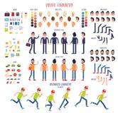 Skapa teckenet Uppsättning av olika kroppsdelar stock illustrationer