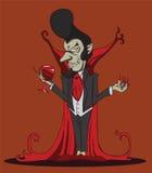 Skapa tecknade filmen Dracula halloween Royaltyfri Illustrationer
