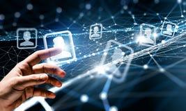 Skapa trådlösa teknologier Blandat massmedia Royaltyfri Bild