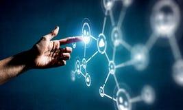 Skapa trådlösa teknologier Blandat massmedia Royaltyfri Foto