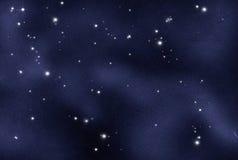 skapad digital starfield Arkivbilder
